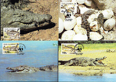053327 WWF Reptilien Reptils Gambia Maximum Card ´s