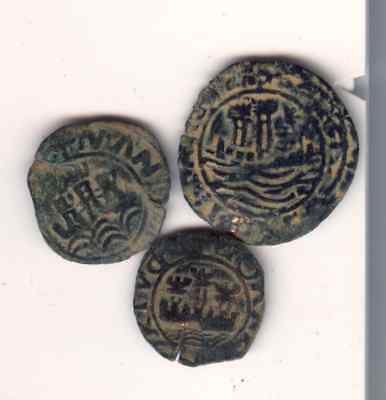 Cincin 19.Very Nice lot 3 Coins  Portugal Medieval,to identify
