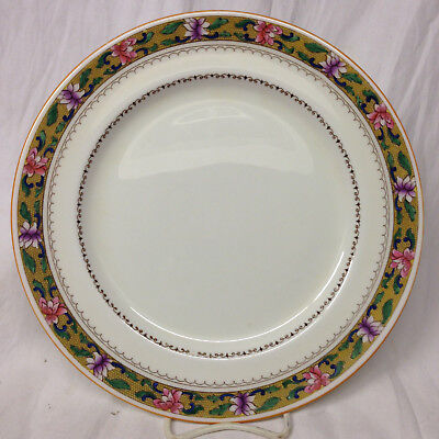 "Royal Doulton England E4653 10 3/8"" Dinner Plate Pink & Purple Flowers"