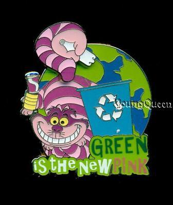 Disney Goin Green Alice In Wonderland Cheshire Cat Green is the New Pink Le Pin