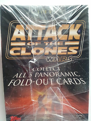 Star Wars: Attack Of The Clones, Panoramic Fold Out Cards Full Set 1-5