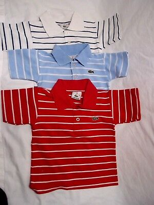LACOSTE Cotton Boys Jumpers x 3 Sz 86cm (18-24 month)