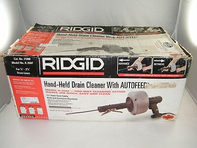 Ridgid K-39, K-39Af, Auto-Feed, Power Drain Snake, Cleaner Nice - Used - Boxed