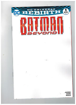 BATMAN BEYOND #1  Blank Variant Cover - Rebirth                 / 2016 DC Comics