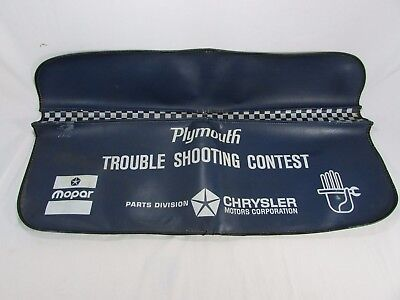 60's Plymouth Trouble Shooting Contest Fender Cover~Mopar~Barracuda~Road Runner