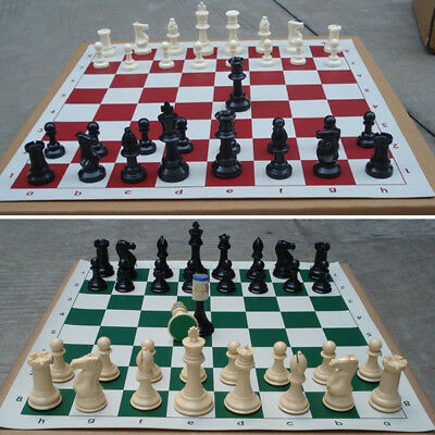 Lot of 32 Medieval Chess Pieces/Plastic Weighted Full Complete Chess Set