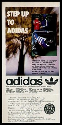 1975 Adidas Allstar shoes and cleats photo vintage print ad