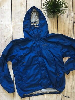 MARMOT Membrain Men's  Waterproof Hooded Rain Jacket Blue  Size Large L