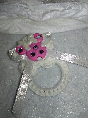 Minnie Mouse magnetic pacifier & pamper doll clothes for Reborn doll NB