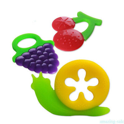 Teether Chew Toy Food Feeder Teething Pacifier Baby Care Heat Resistant NH6