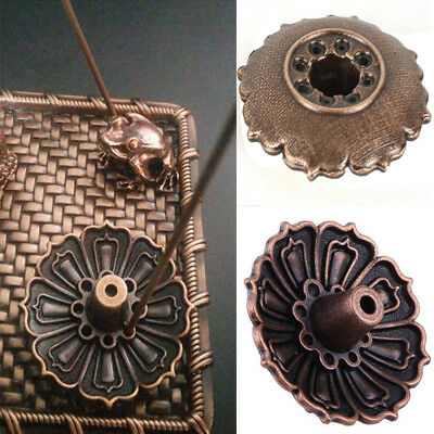 Chic Lotus Shape Incense Burner Holder Censer Plate For Stick Cone With 9 Holes