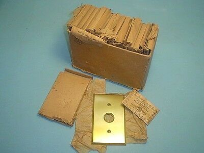 18 Vintage New Old Stock H&h Push Button Brass Switch Plate Covers