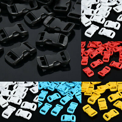 "10 50 100pcs 3/8"" Contoured Side Release For Paracord Bracelet Plastic Buckle"
