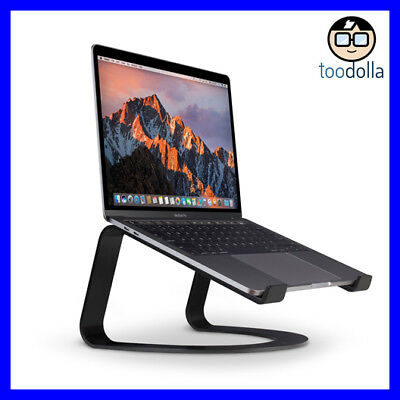 TWELVE SOUTH Curve elegant designer aluminium desktop stand for MacBooks, Black