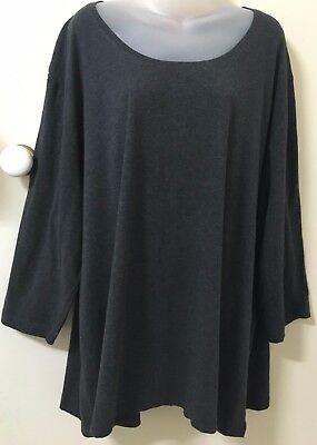 EMME MY SIZE Grey, Long Sleeve Top -XL-Exc Cond