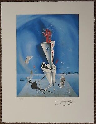 Salvador Dali 'Apparatus and hand' Signed Lithograph Lim. 2000 pcs.