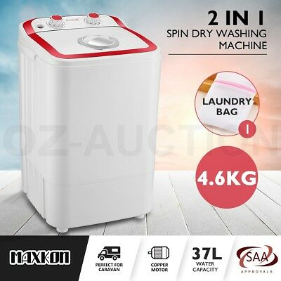 Maxkon 4.6KG Washing Machine Cleaner Mini Top Load Washer Dryer - Red and White