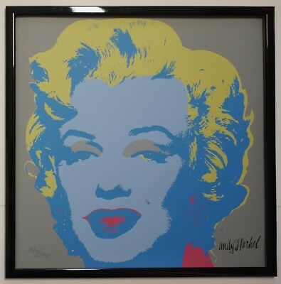 A - Andy Warhol Marilyn Monroe Signed Lithograph - Limited 170 of 2400 pcs.