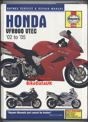 Honda VFR800 (2002-2005) Haynes Work Shop Manual Book VFR 800 A VTEC ABS V-TEC