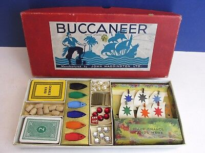 1st edition SPARE PARTS for VINTAGE BUCCANEER BOARD GAME waddingtons pirate 1938