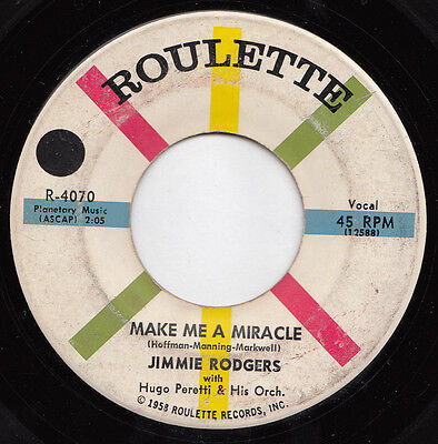 Jimmie RODGERS miracle 45 killer R&B POPCORN northern soul MOD dancer HEAR ♬