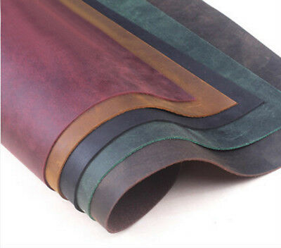 DIY Thick:1mm 14-60cm Genuine Leather Fabric Scrap for Wallet Bag Notebook DIY