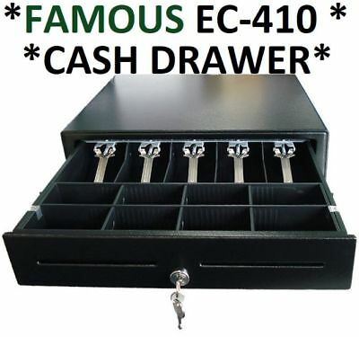 Industry Standard EC-410 CASH DRAWER/Draw 5.Notes 8.Coin Cups Slots Holders POS