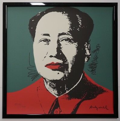 A - Andy Warhol Mao Zedong Signed Lithograph - Limited 1214 of 2400 pcs.