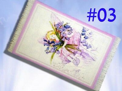 Dolls house Rug 1/12th Printed Canvas Miniature Lilac Fairy Bedroom