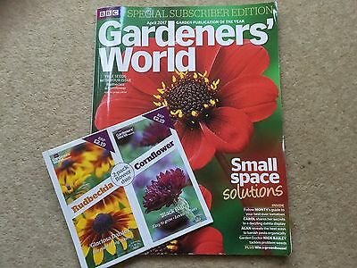 BBC GARDENERS WORLD magazine Subscribers Edition April 2017 + Free Seeds