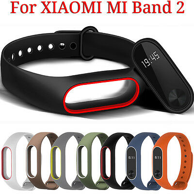For Xiaomi 2 Mi Band 2 Replacement Silicone TPE Wrist Strap Smart Bracelet Band