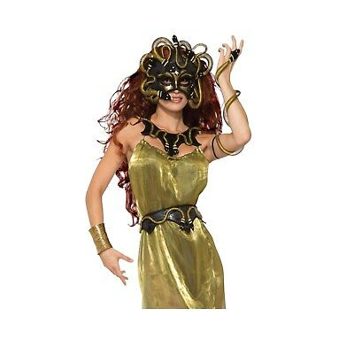 Adult Womens Medusa Accessories Mask Collar Belt And Armband Fancy Dress