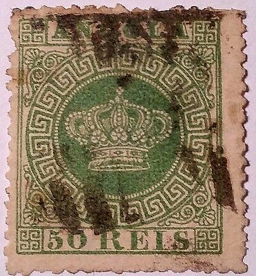 Angola   Scott#6 Used Stamp....worldwide Stamps