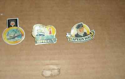 3 Pin's Pins Capitaine  Iglo Imperial