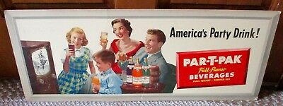 1950s PAR-T-PACK BEVERAGES Cardboard SIGN...NICE!