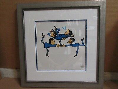 THE BEATLES Cartoon Ltd Ed Sericel Animation Cel