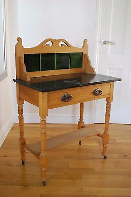 Art Nouveau, late Victorian, early 20th century 'Rosewood' and marble wash stand