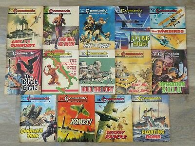 14  x  COMMANDO COMICS  Issues between 1349 & 1922 - EXCELLENT  CONDITION