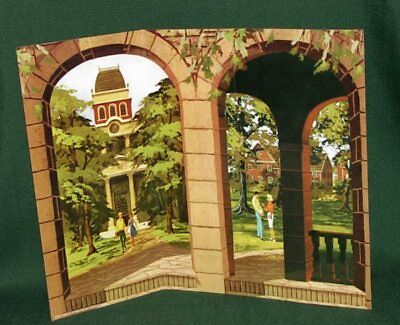 BARBIE Retro 1960 s STATE COLLEGE CAMPUS BACKDROP for DIORAMA DISPLAY
