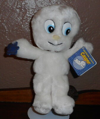 "10"" VINTAGE Applause Casper the Friendly Ghost PLUSH Toy Doll with TAGS White"
