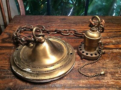 VINTAGE ANTIQUE HANGING PENDANT LAMP CEILING LIGHT FIXTURE .FITTER 2 1/4 Inch.
