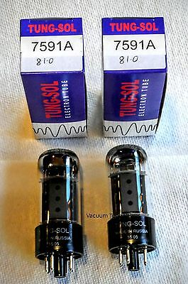 Tung-Sol Factory Platinum Matched PAIR two 7591A 7591