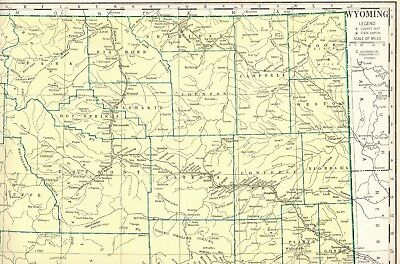 STATE MAP OF Wyoming, Rapid Routes Folded & Laminated, by Five Star ...