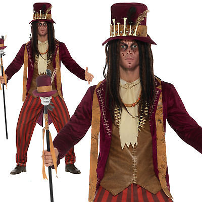 Nice Adult Deluxe Voodoo Witch Doctor Costume Halloween Fancy Dress Mens Outfit