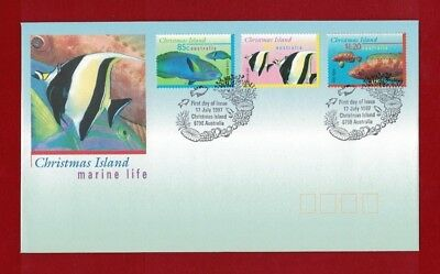 1997 Christmas Island Fish SG 416/18/20 FDC or fine used set