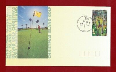 1995 Christmas Island Golf SG 403 FDC or fine used