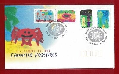 1999 Christmas Island Festivals SG 469/72 FDC or fine used set