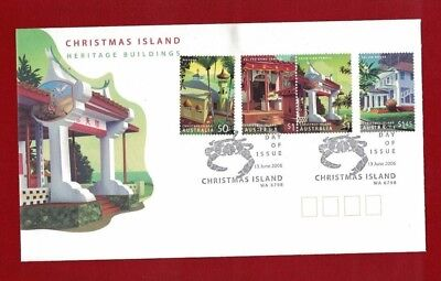 2006 Christmas Island Heritage SG 596/9 FDC or fine used set