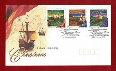 1996 Christmas Island Christmas SG 430/2 FDC or fine used set