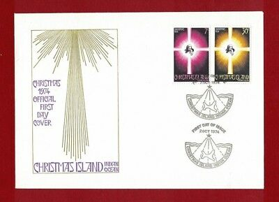 1974 Christmas Island Christmas SG 59/60 FDC or fine used set